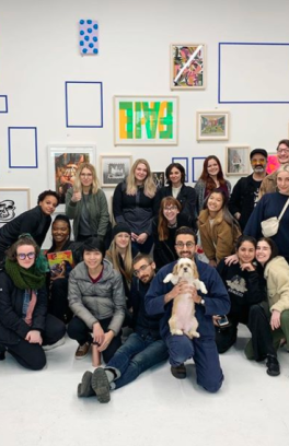 A+D Projects students on a field trip to Fisk Studios