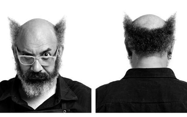 Rick Griffiths shown portrait style in two views: front and back of head