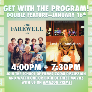 Farewell and Lost in Translation Watch Party Flyer