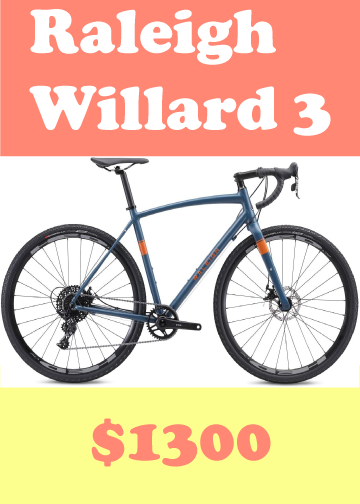 Raleigh Willard 3 bicycle, it cost $1300