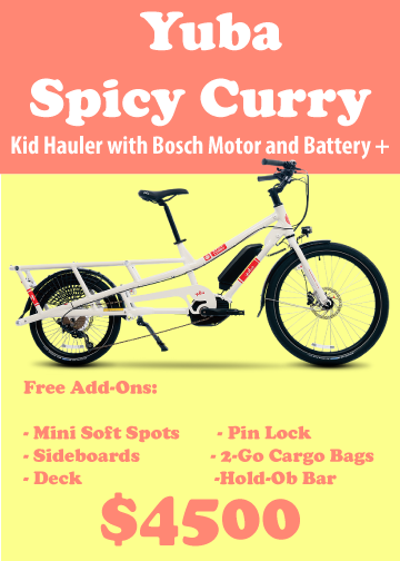 Yuba Spicy Curry bike for sale, it costs $4500