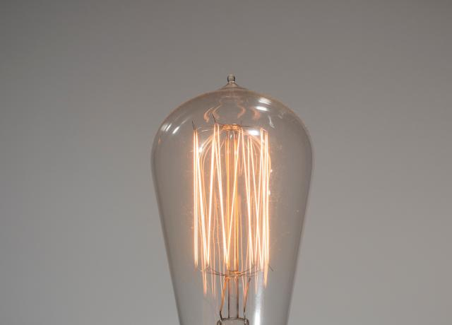old school lightbulb