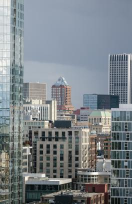 Buildings in downtown Portland