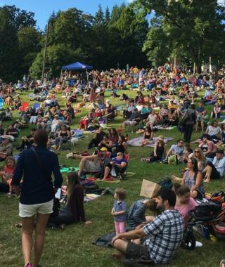 Crowd at Cathedral Park