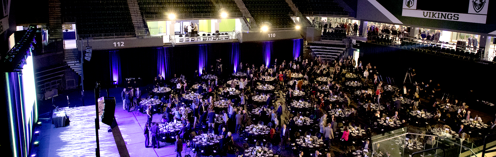 Viking Pavilion arena can host banquets for hundreds of attendees