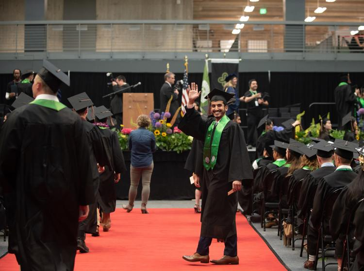 Viking Pavilion can host thousands for commencement ceremonies.