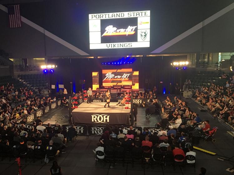 Viking Pavilion hosts great entertainment such as professional wrestling.