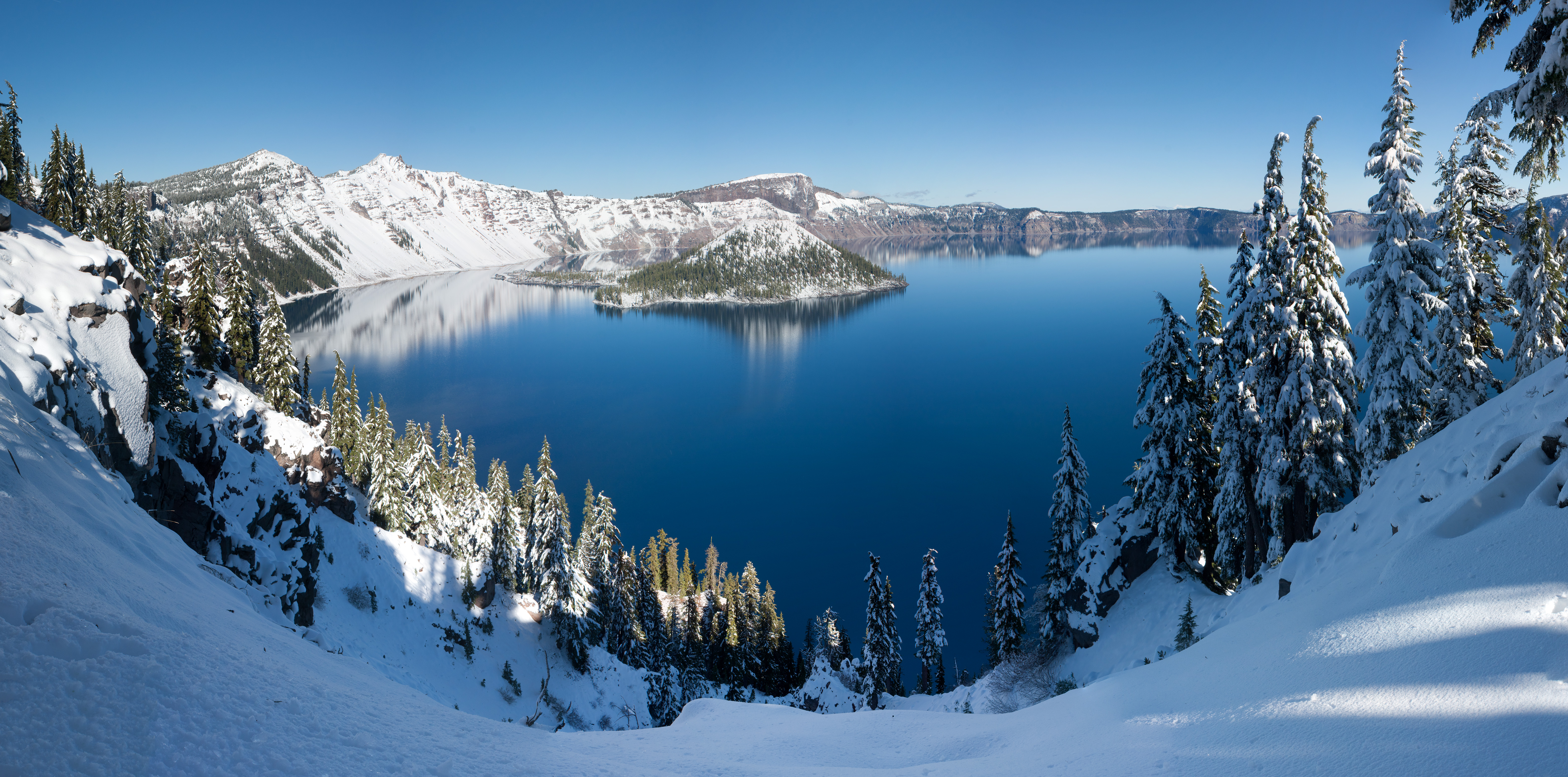 """Crater Lake Winter"" by WolfmanSF"