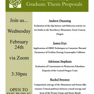 Geology Thesis Proposals