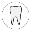 Decorative tooth icon.
