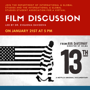 """13th"" Film Discussion Flyer"