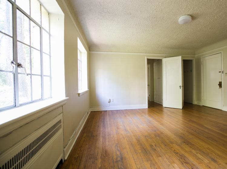 Alternate view of unfurnished one bedroom living room