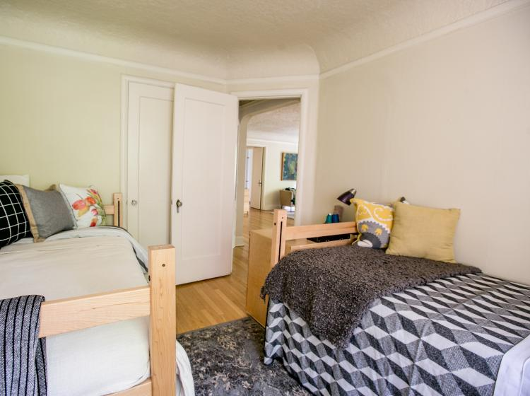 One of two bedrooms in furnished quad, alternate view