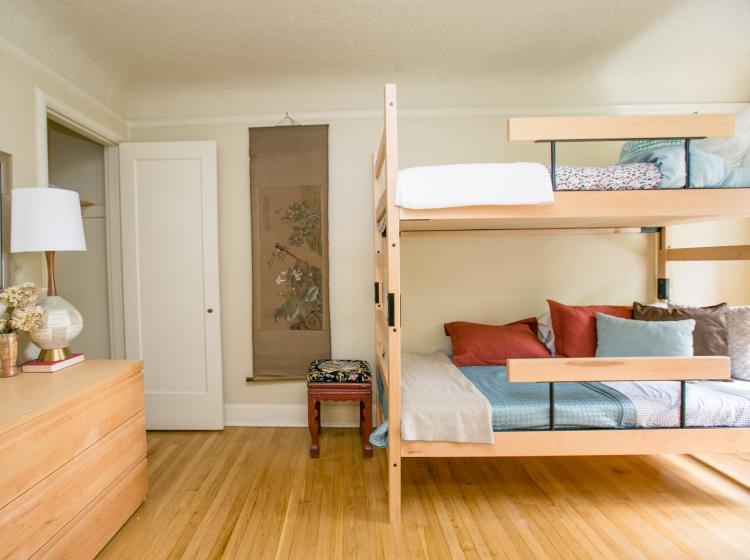 Second bedroom in furnished quad