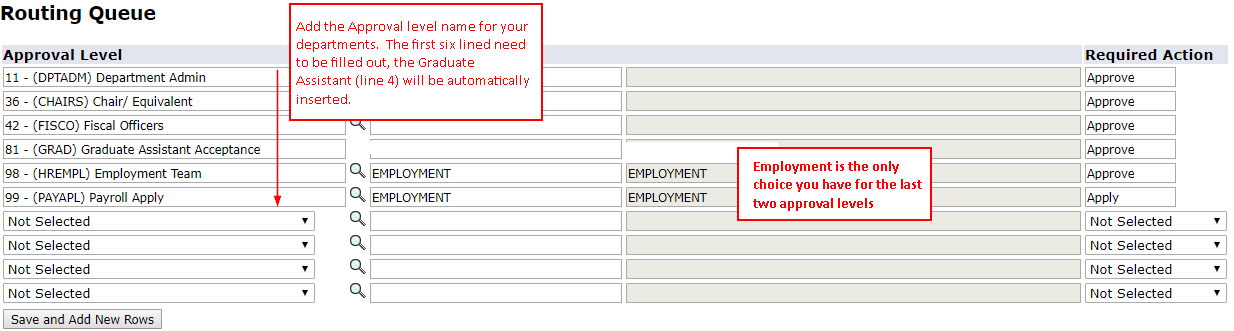 screen shot of approver selection