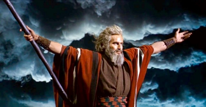 Heston plays Moses