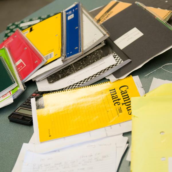 Pile of composition notebooks