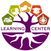 Learning Center brand depicting tree with five pentagons to represent our services