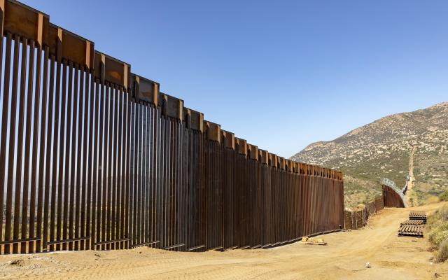 Border wall between U.S. and Mexico