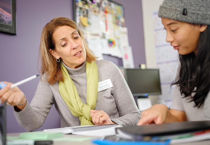professional adviser helping student