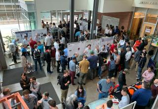 Capstone Design Fair Overhead View
