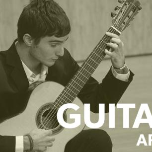 Guitar student in recital