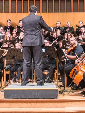 The PSU Orchestra and choirs in performance