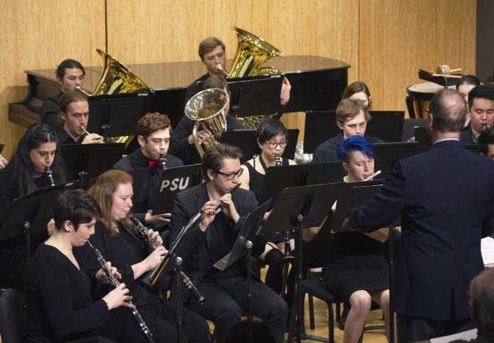 Wind Symphony in performance