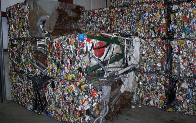 bales of materials to be recycled
