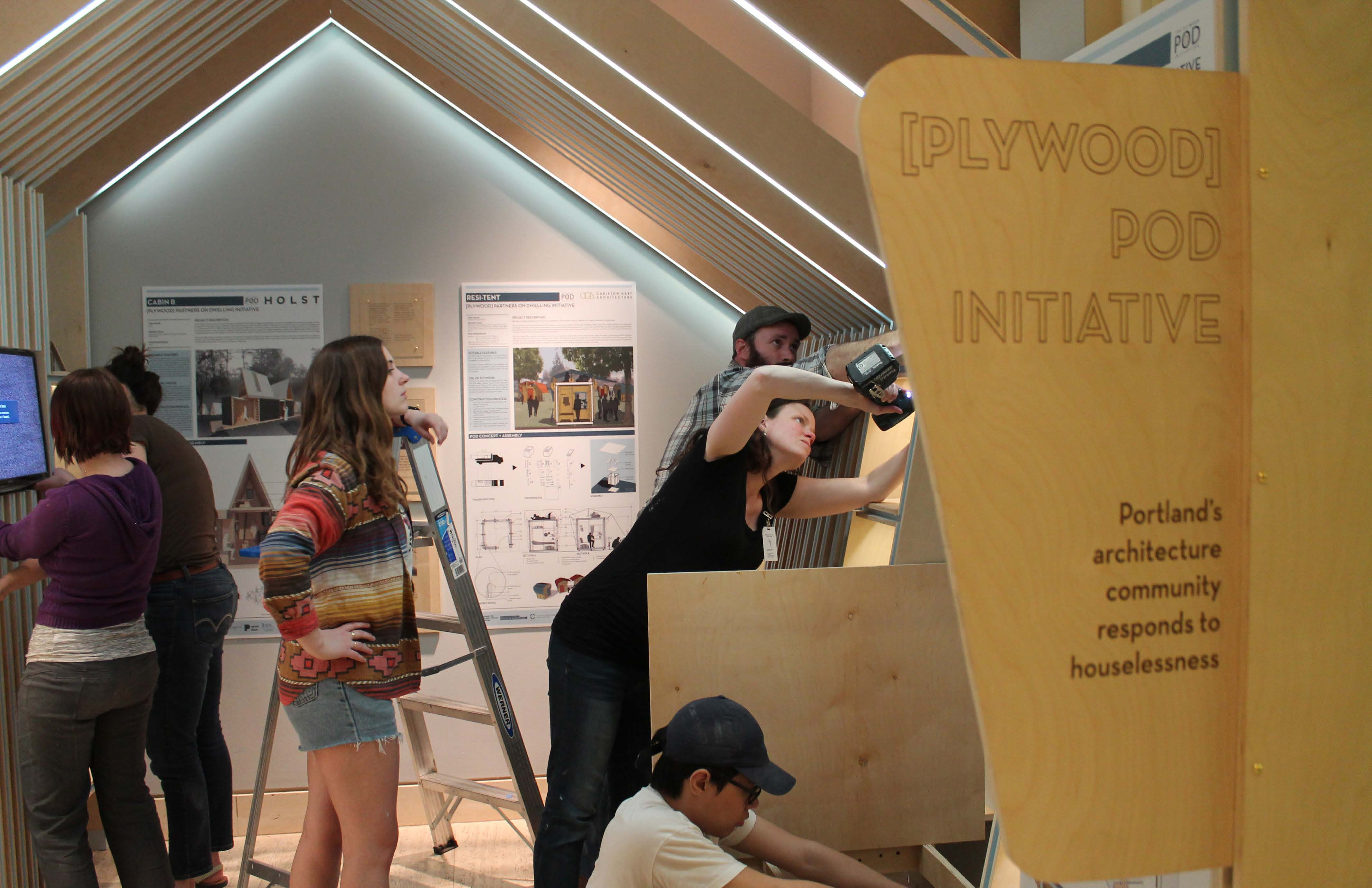 CPID students design and build an exhibit on responding to houselessness with design at the Portland Art Museum
