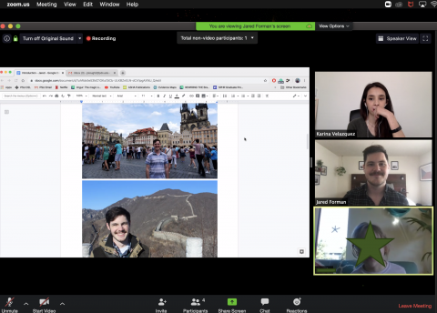 Zoom video conference screenshot