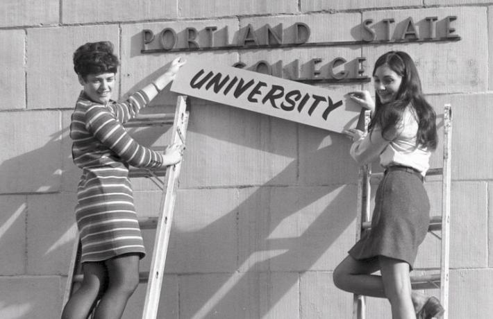 Portland State College historical photo