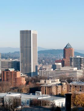 Panorama of downtown Portland