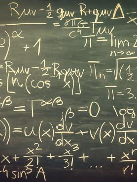 math equations written on a chalkboard