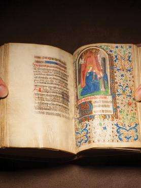 photo of a medieval book