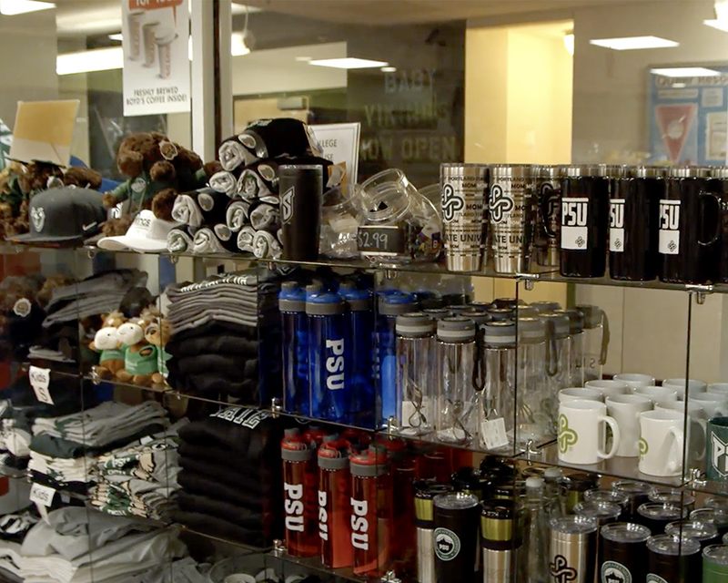 University Market offers a selection of PSU gear.