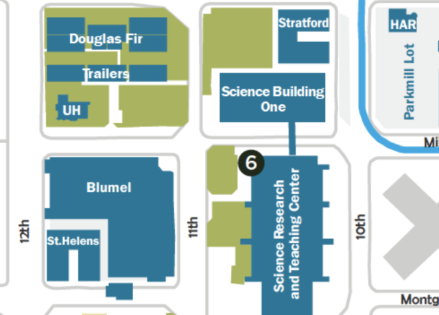 sw 11th on campus map