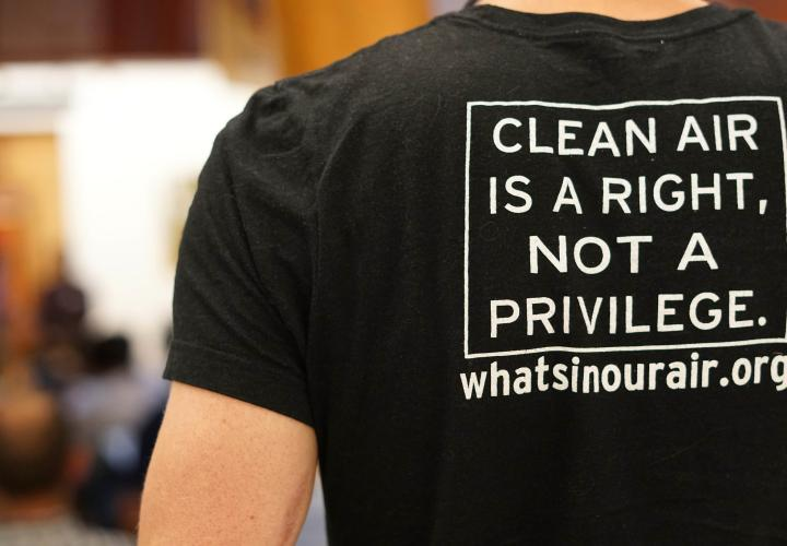 clean air is a right, not a privilege t-shirt