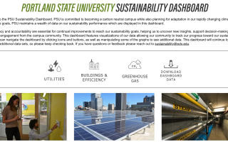 portland state university sustainability dashboard utilities buildings and efficiency greenhouse gas download data