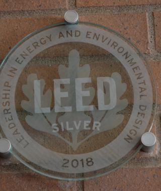 Leadership in energy and environmental design plaque for silver designation