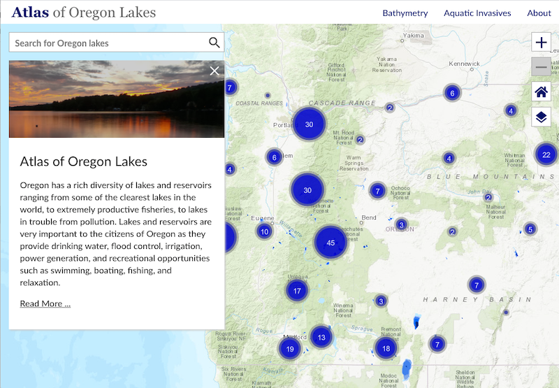 Atlas of Oregon Lakes website