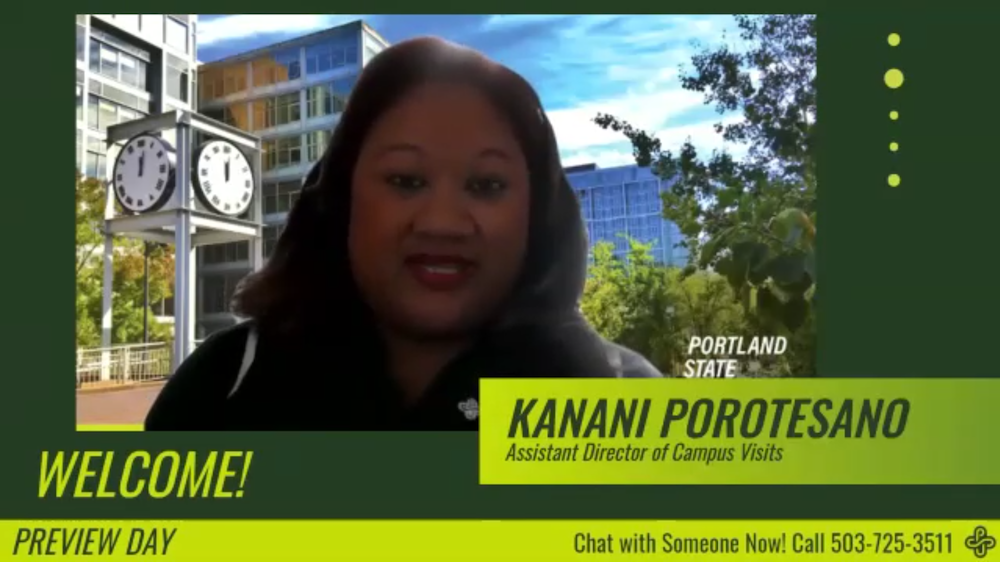 Kanani Porotesano, Assistant Director of Campus Visits at PSU Preview Day