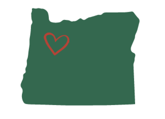 Oregon image with heart