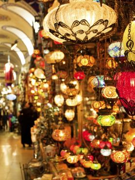 Lantern shop in the Middle East