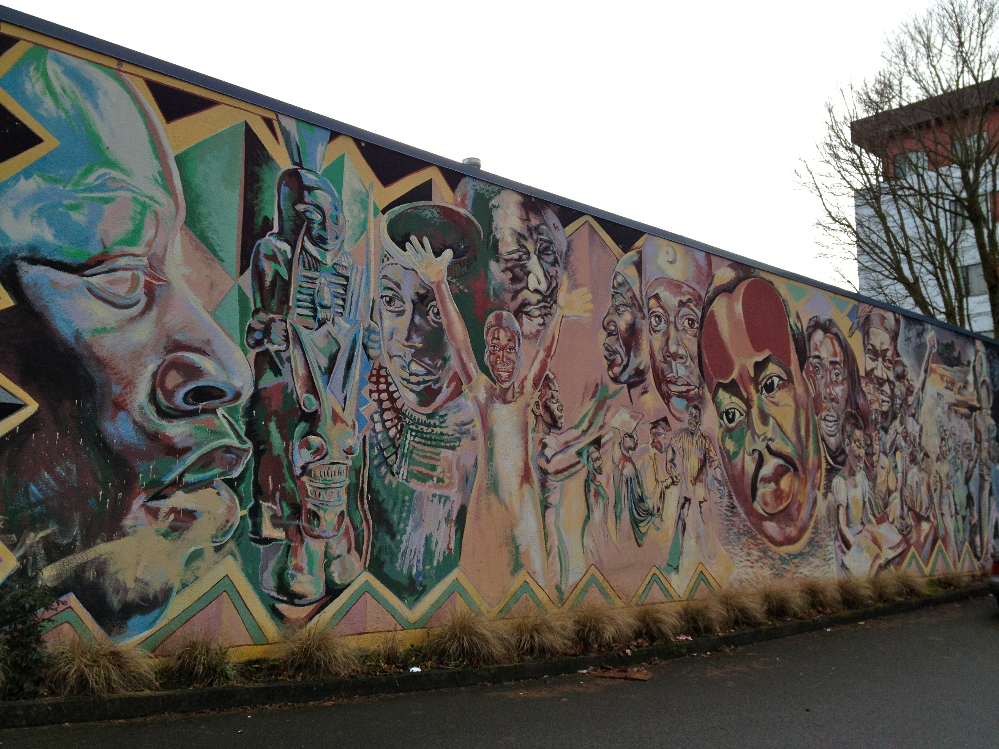 Photo of the King mural at MLK and Shaver in Portland, OR